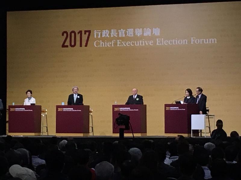 昨晚三位行政長官候選人在論壇中不時擦出火花。