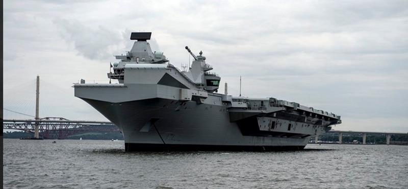 英國新航空母艦伊莉莎白女王號服役後將會到南海巡航。