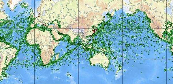 全球海運示意圖。(圖片來源網絡)